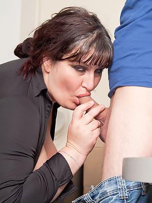 Sexy young FATTY fucks her boss