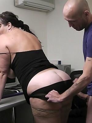 Horny boss fucks CHUBBY applicant