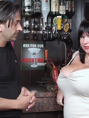 Lovely chubby boned in a bar